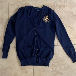 Embroidered Ralph Lauren Country Club Cardigan